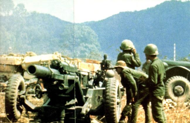 Mot phao doi cua TD3PBND tai can cu hoa luc trong cuoc hanh quan ha lao nam 1971